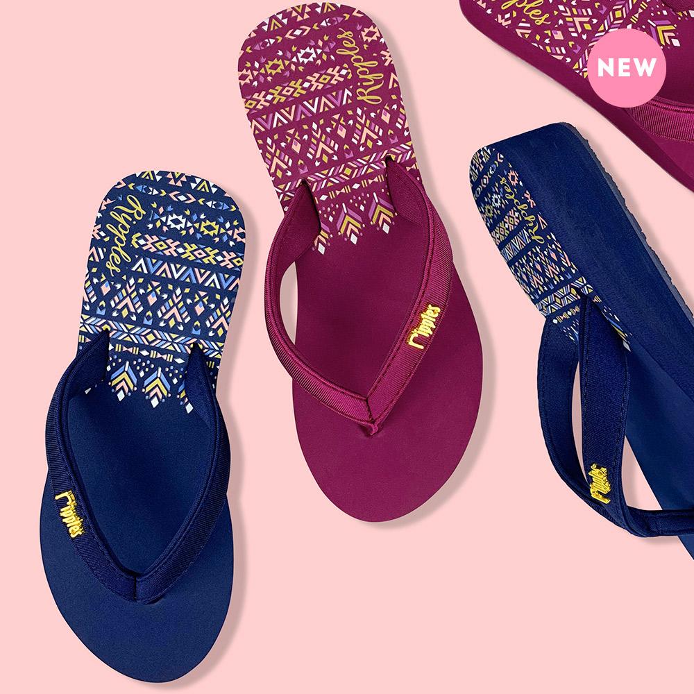 Astrial Aztec Ladies Sandals Mid Wedge