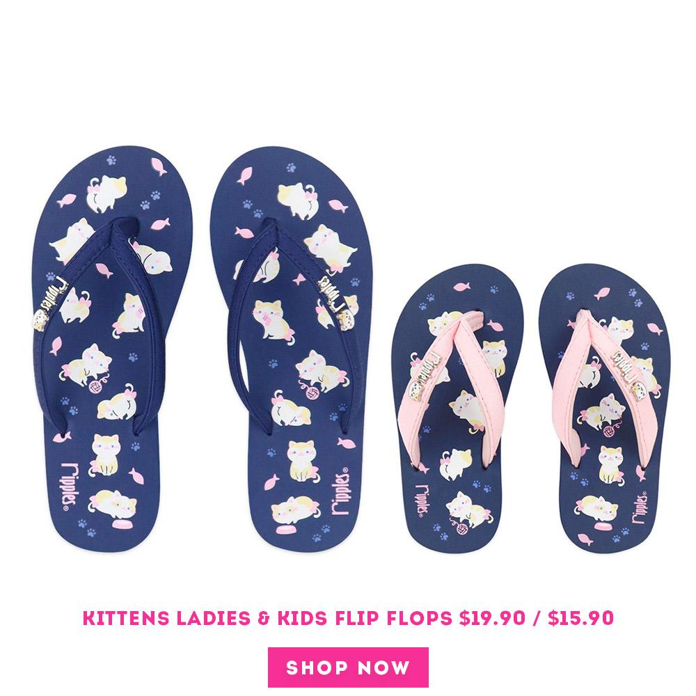 Kittens Ladies Flip Flops