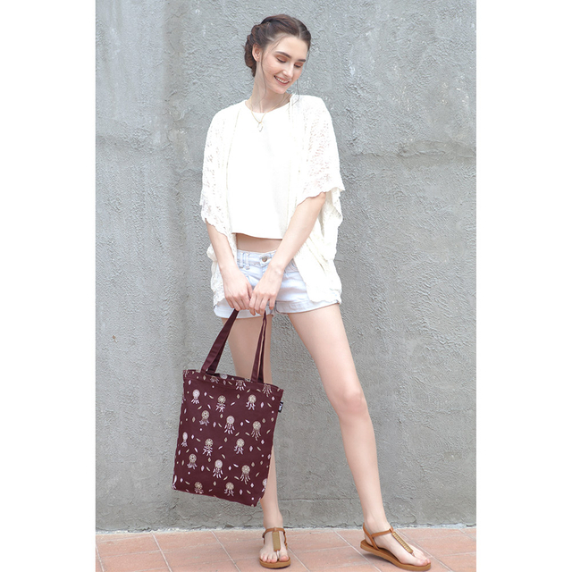 Dreamcatchers Rectangle Tote Bag (Maroon)