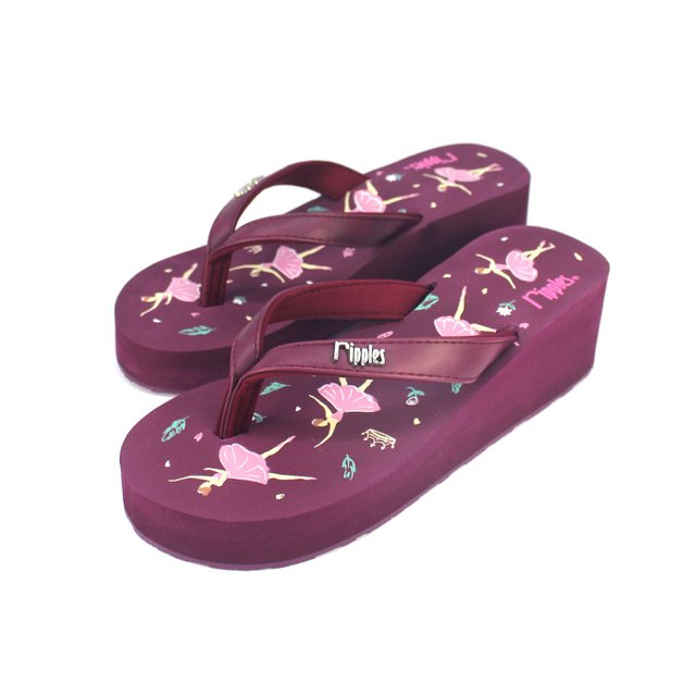 [SALE] Ballerina Ladies Wedges (Maroon Purple)
