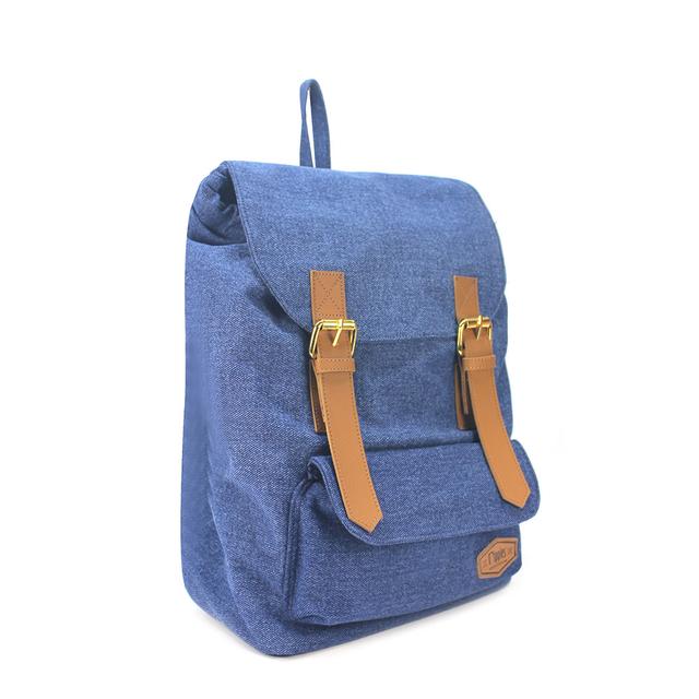 Hue Basic Ladies Backpack (Mid Wash Denim)