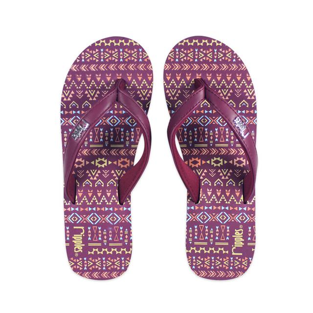 [SALE] Arika Aztec Ladies Wedges (Maroon Purple)