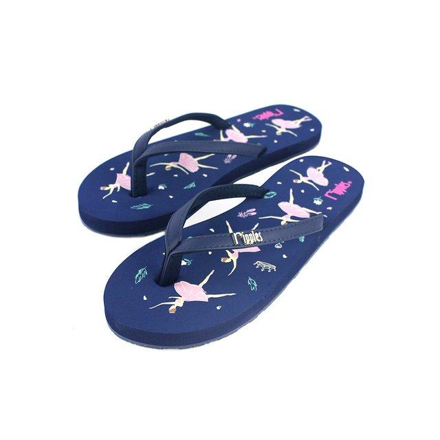 [SALE] Ballerina Ladies Flip Flops (Navy Blue)