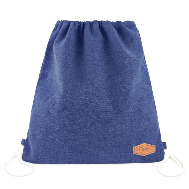 [PROMO] Denim Ladies Drawstring Backpack (Mid Blue Wash)