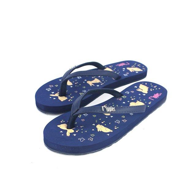 [SALE] Meadow Rabbits Ladies Flip Flops (Navy Blue)