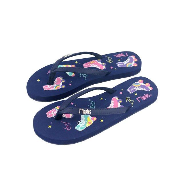 [SALE] Rollerskates Ladies Flip Flops (Navy Blue)