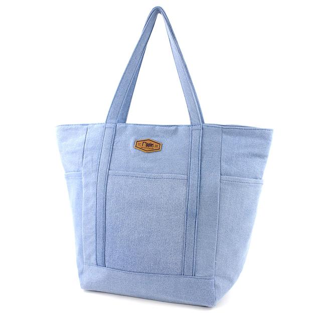 [PROMO] Caylie Carry-All Tote Bag (Light Denim)