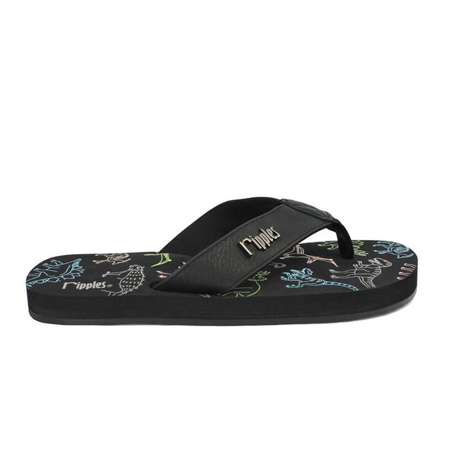 Dinosaur Big Kids Flip Flops (Black)