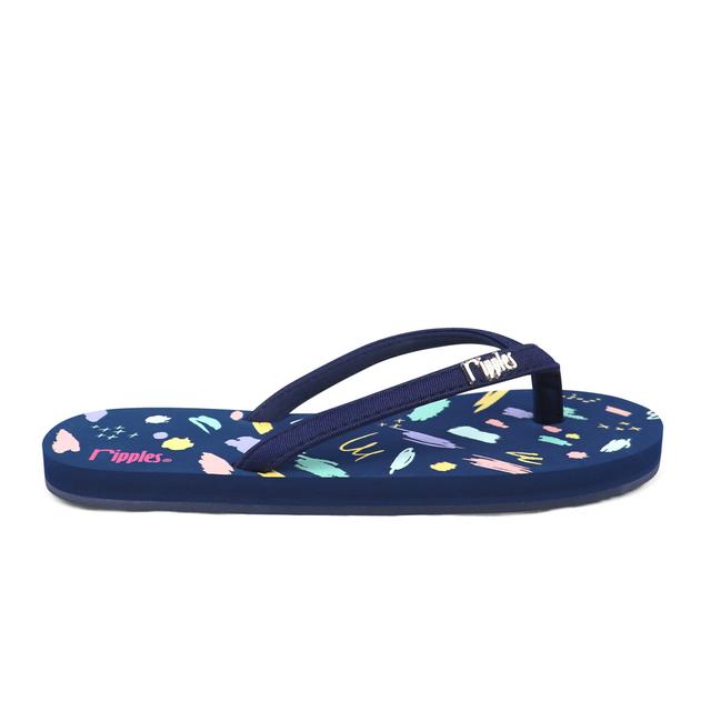 [PROMO] Scribbles Brushstrokes Ladies Flip Flops (Navy Blue)