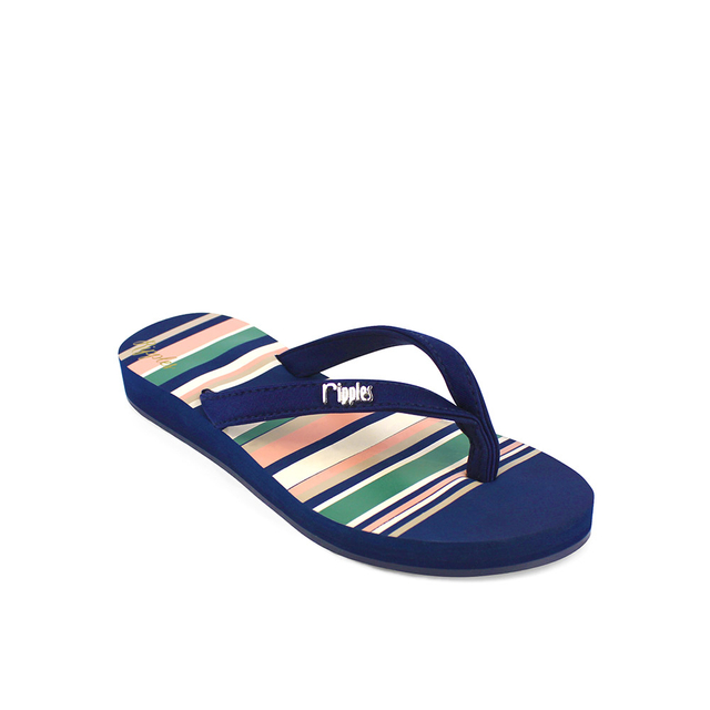 Lynette Stripes Ladies Sandals (Navy Blue)