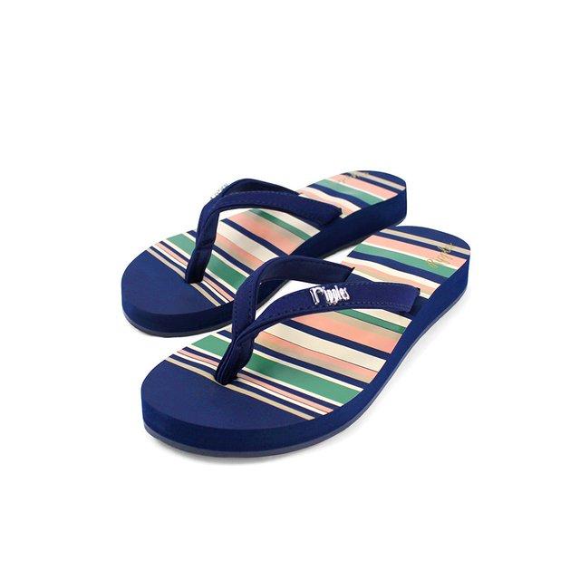 Lynette Stripes Ladies Sandals (Navy Blue)