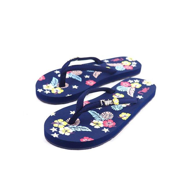 [PROMO] Kariyushi Floral Ladies Flip Flops (Navy Blue)
