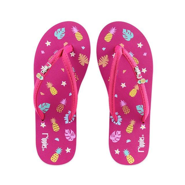 Pineapple Ladies Flip Flops (Pink)