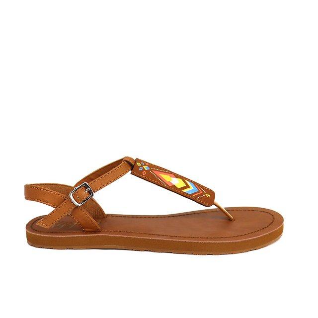 [PROMO] Elena Aztec Slide'N'Style T-Bar Sandals (Brown)