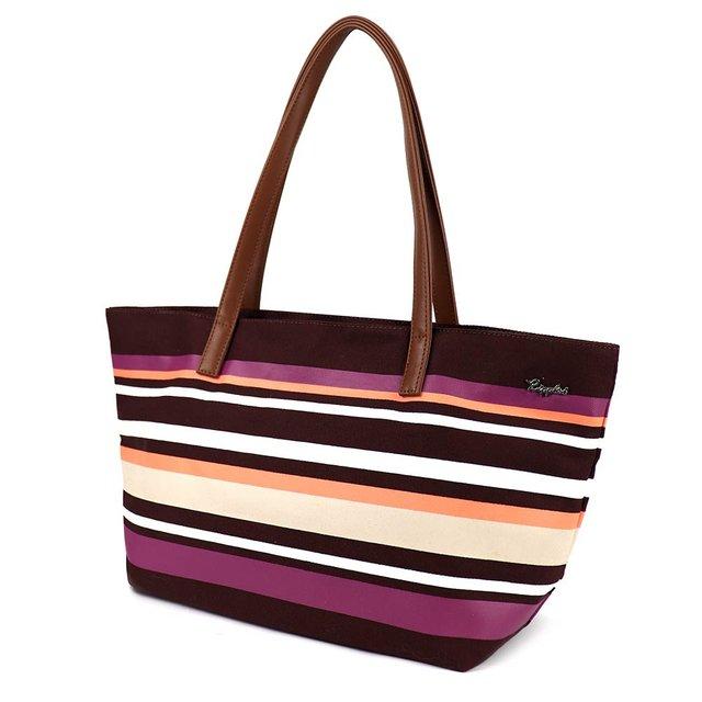 Lynette Stripes Handbag (Maroon)