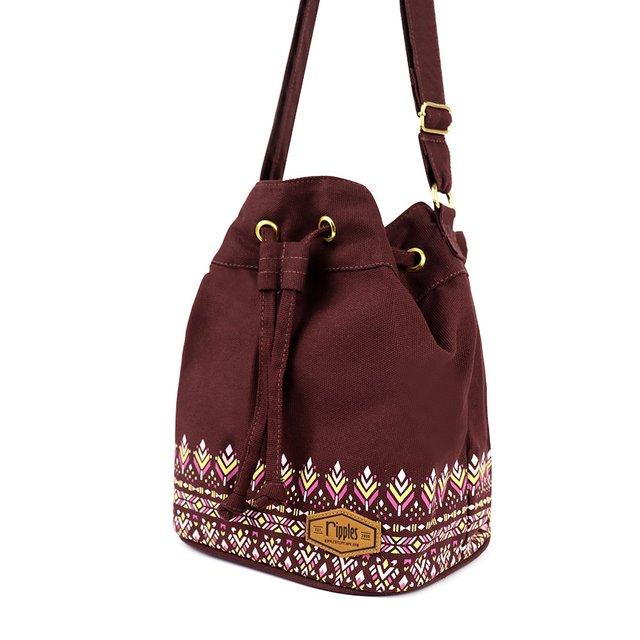 Astrial Aztec Bucket Sling Bag (Maroon)