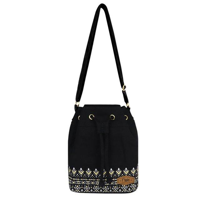 Astrial Aztec Bucket Sling Bag (Black)