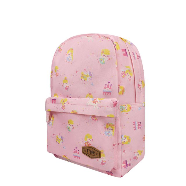 Fairies Mid Sized Kids School Backpack (Pink)