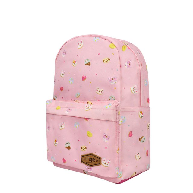 Animal Donuts Mid Sized Kids School Backpack (Pink)