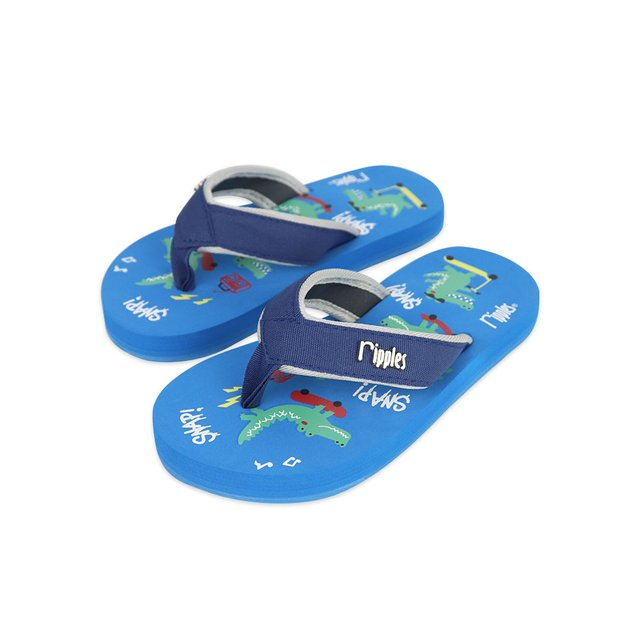 Crocodile Little Kids Flip Flops (Blue)