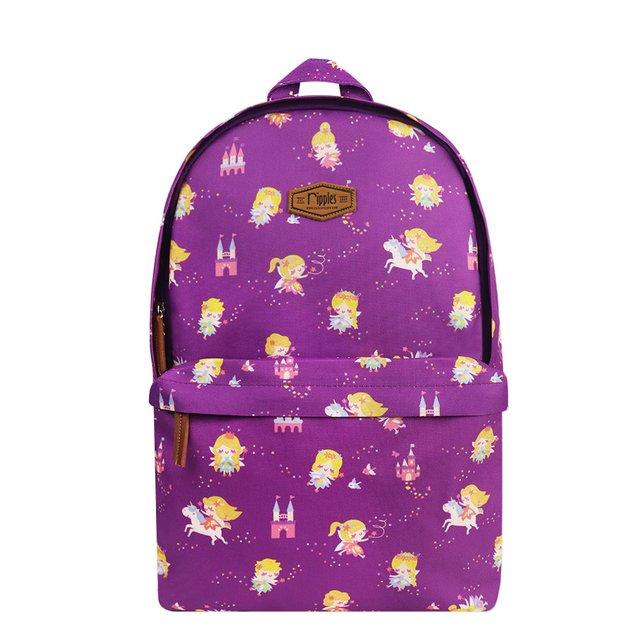 Fairies Digital Print Backpack (Purple)