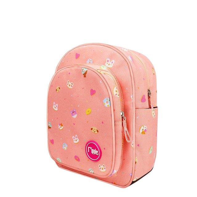 Animal Donuts Kids Backpack (Peach)