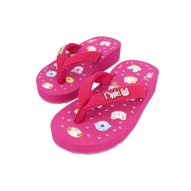 Animal Donuts Little Kids Wedge (Pink)