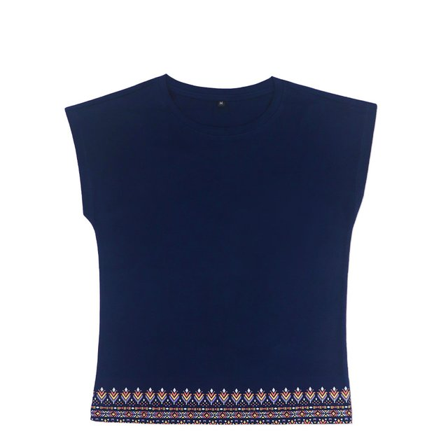 [PROMO] Astrial Aztec Ladies Relaxed Short Sleeve T-Shirt (Navy Blue)