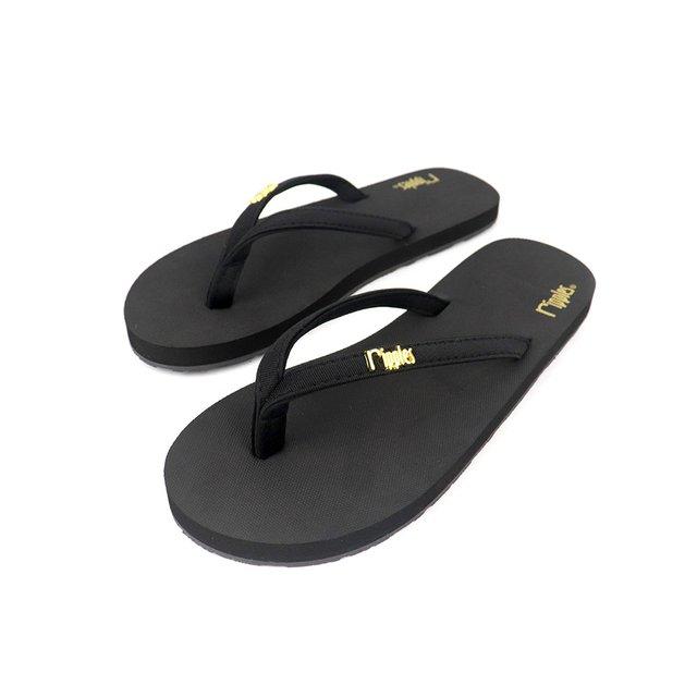 Ava Classic Ladies Flip Flops (Black)