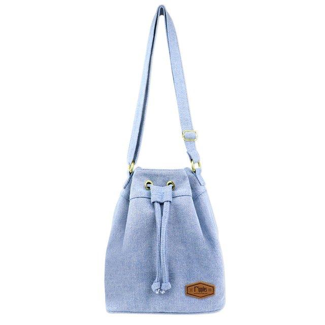 [PROMO] Chloe Basic Bucket Sling Bag (Light Wash Denim)