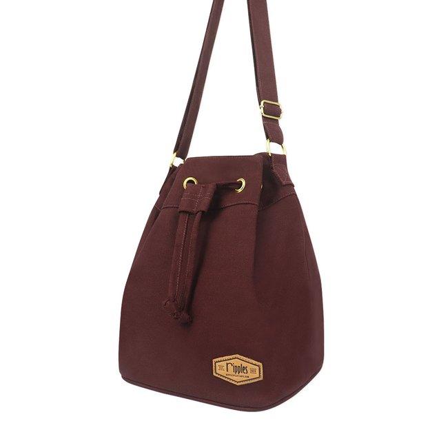 [PROMO] Chloe Basic Bucket Sling Bag (Maroon)
