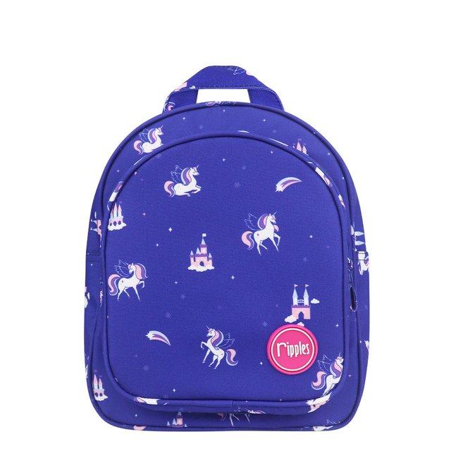 Unicorn Castle Kids Backpack (Navy Blue)