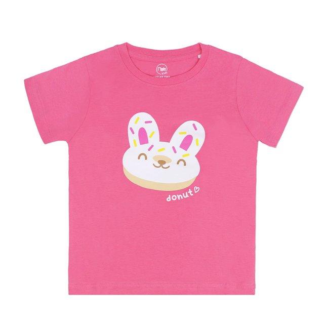 [PROMO] Kids Animal Donut Rabbit T-shirt (Pink)